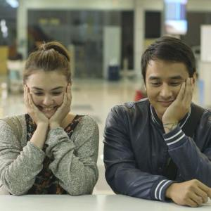 "Angelica Panganiban and JM de Guzman in ""That Thing Called Tadhana.""  On their real love life, they have learned to close the past and focus on the present"
