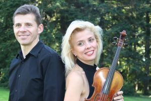 French pianist  Thierry Huillet and Romanian violinist  Clara Cernat: all set for September 9 Philippine debut.