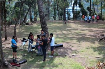 The MSO Music Academy music camp in Baguio City. Perfect setting in which to absorb music.