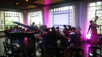 The MSO Junior Orchestra at Hill Station in Baguio City. Glorious Mozart at 5,000 ft. above sea level. Photo: Sinag de Leon